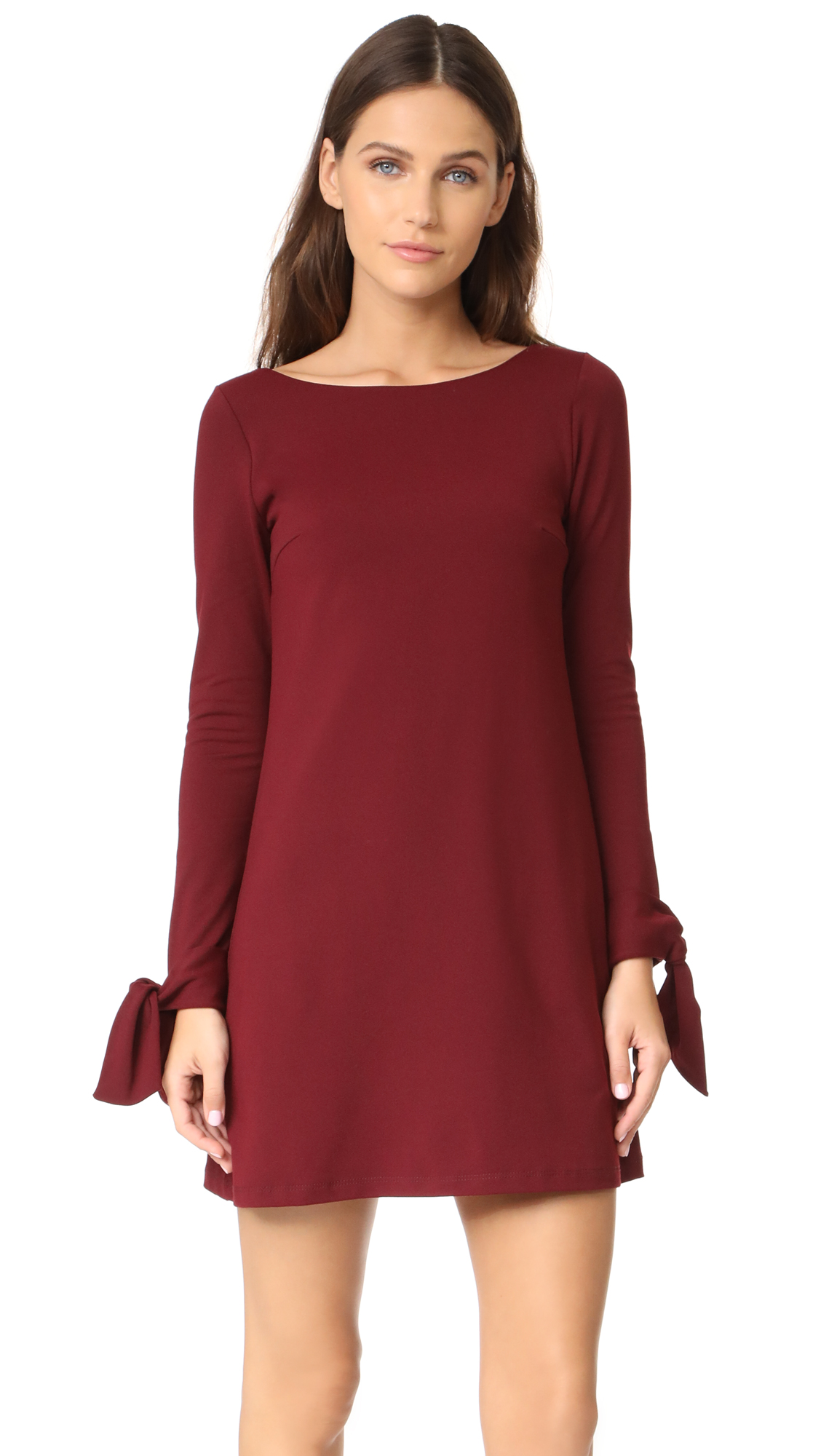 Susana Monaco Cody Dress In Oxblood