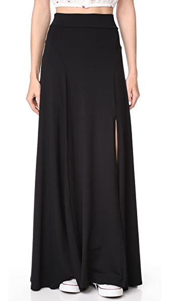 Susana Monaco Slit Skirt - Black