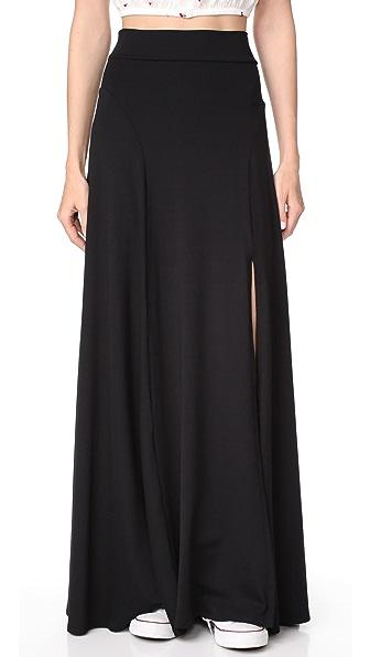 Susana Monaco Slit Skirt In Black