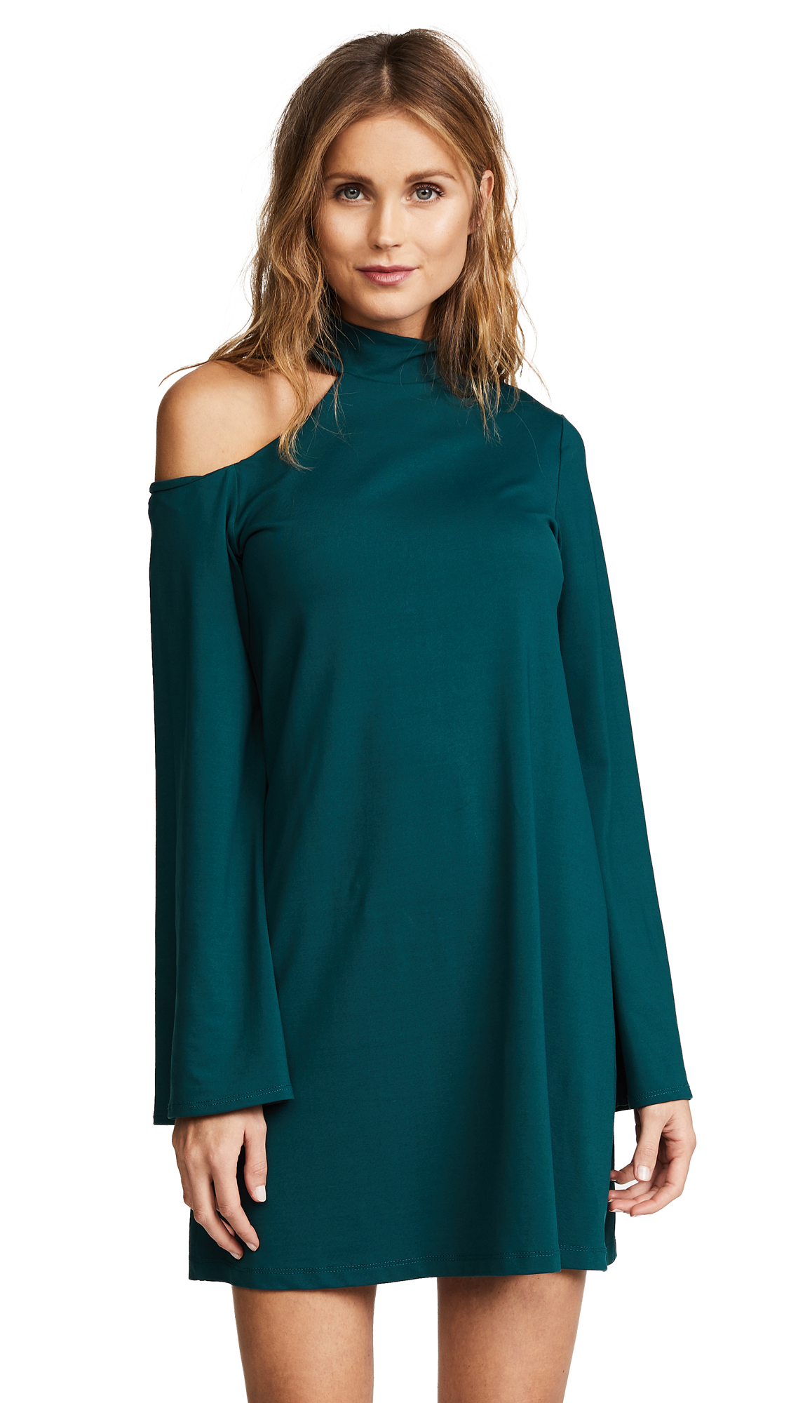 Susana Monaco Patricia Dress In Pine Needle