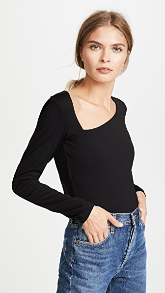 Susana Monaco Laurene Diagonal Neck Top