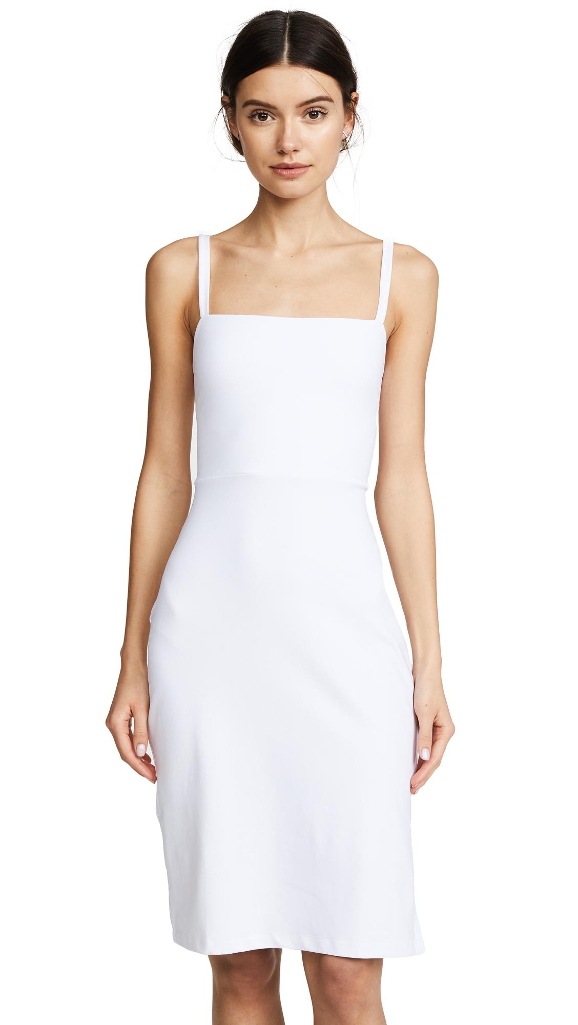 Susana Monaco Lizabeth Back Lace Up Slit Dress