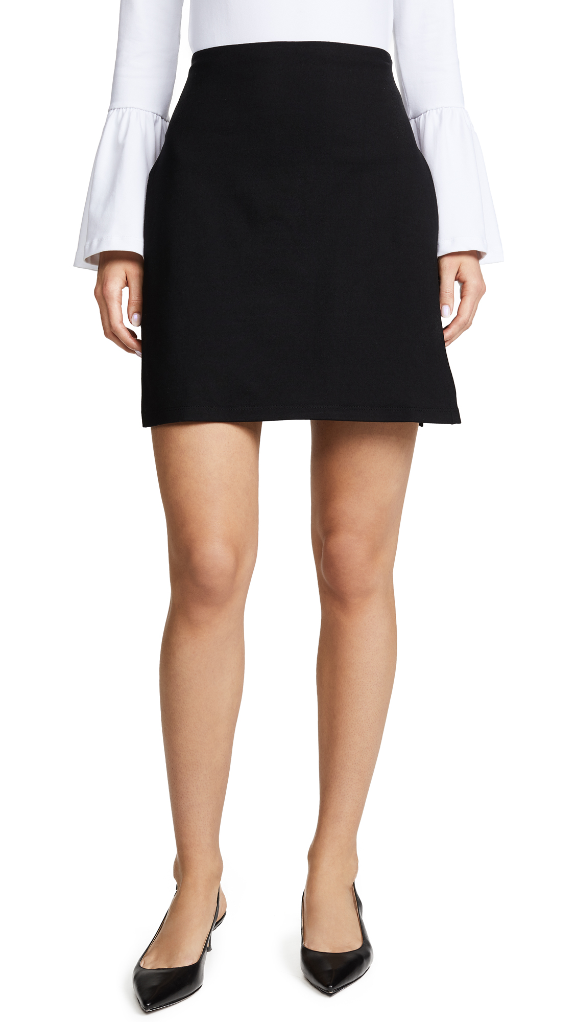 Susana Monaco Joyce Slit Mini Skirt In Black