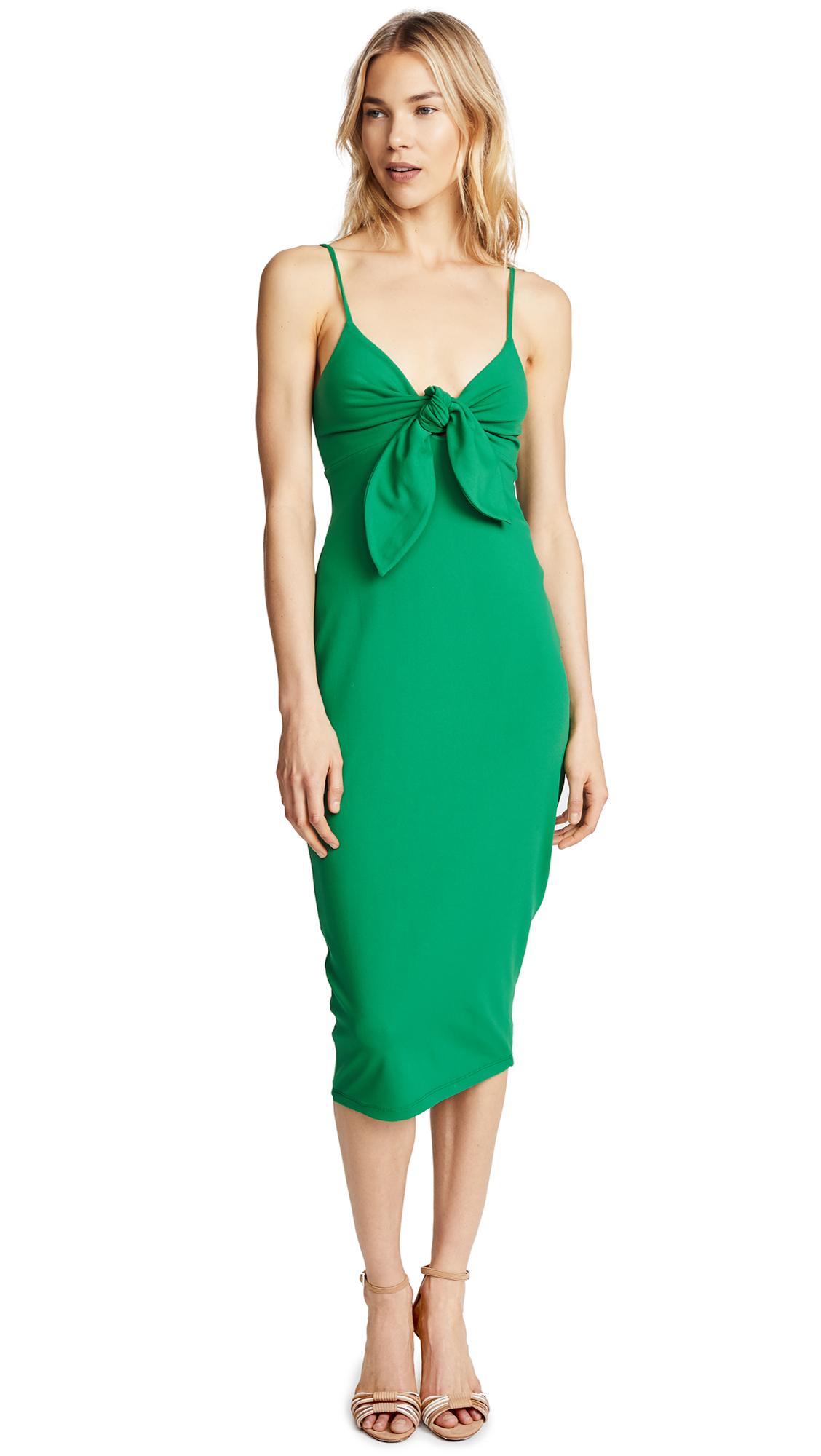 Susana Monaco Isadora Bow Detail Midi Dress