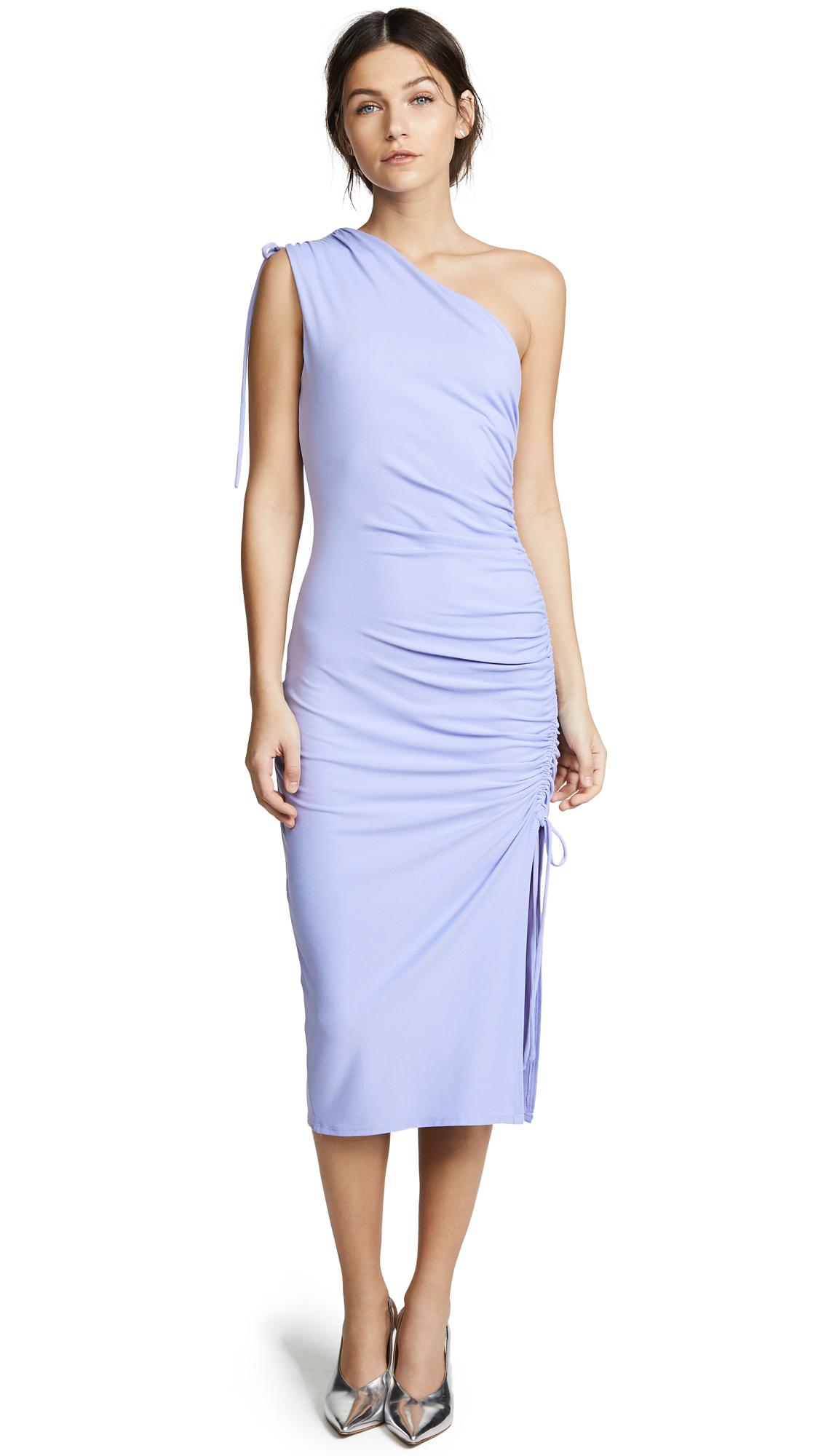 Susana Monaco Lillie Gathered One Shoulder Dress - Sweet Lavender