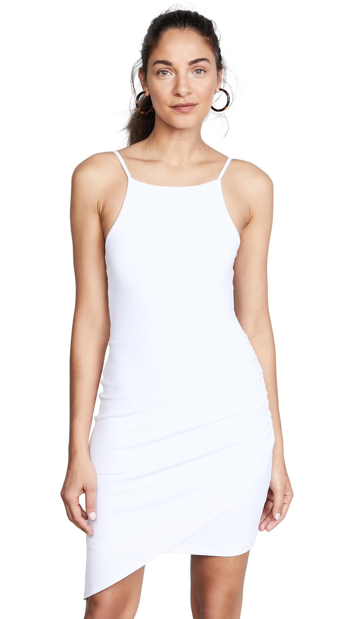 Susana Monaco Asymmetrical Gathered Dress In Sugar