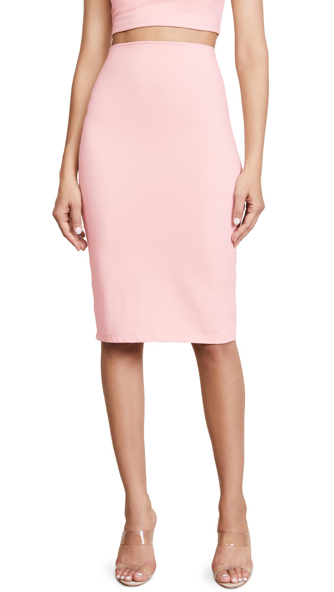 Susana Monaco Slim Skirt In Pink Sand