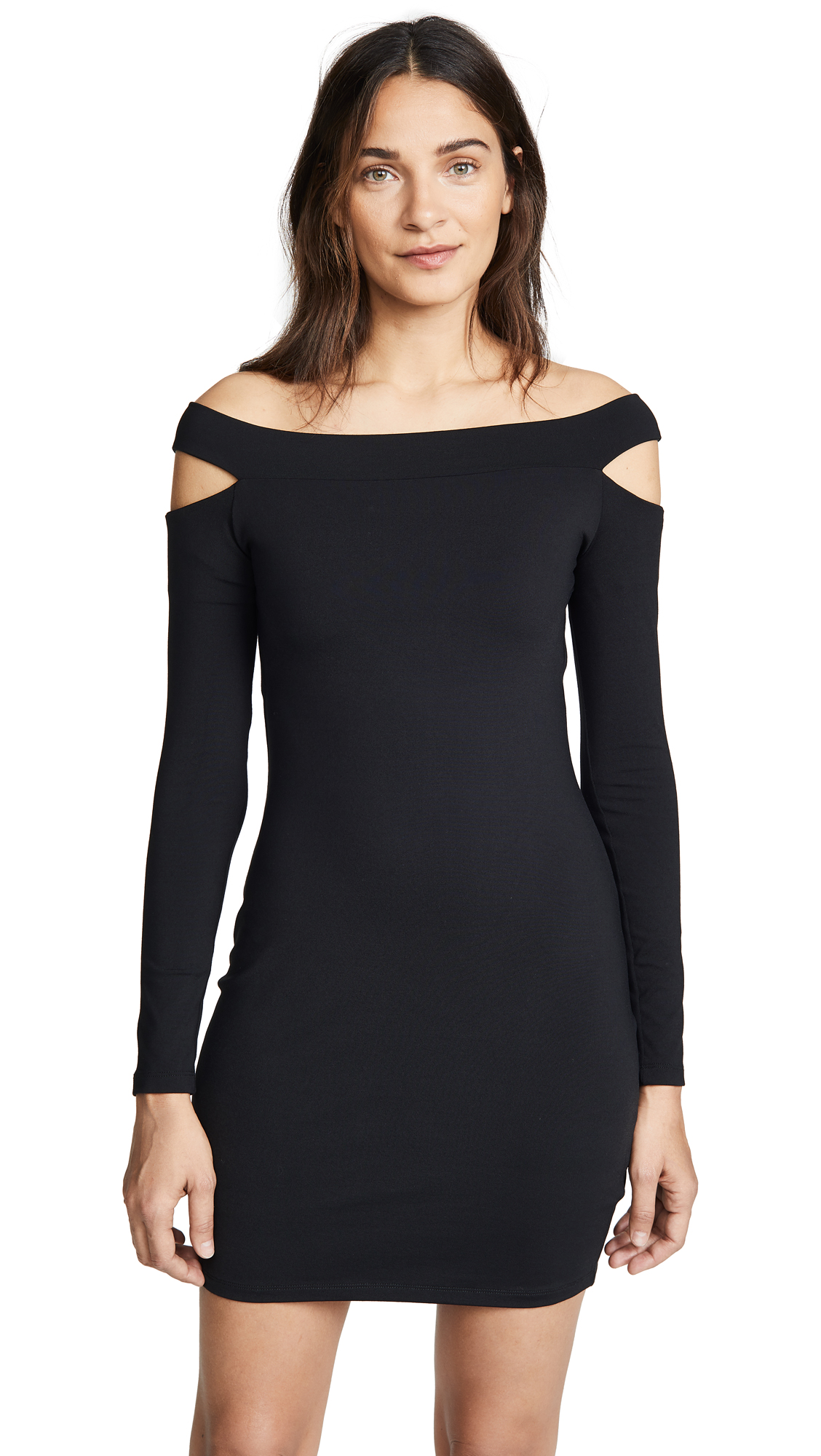 Susana Monaco Off the Shoulder Cutout Dress In Black
