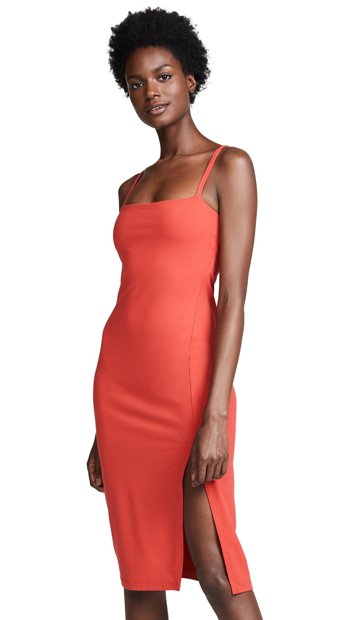 Susana Monaco Thin Strap Slit Dress