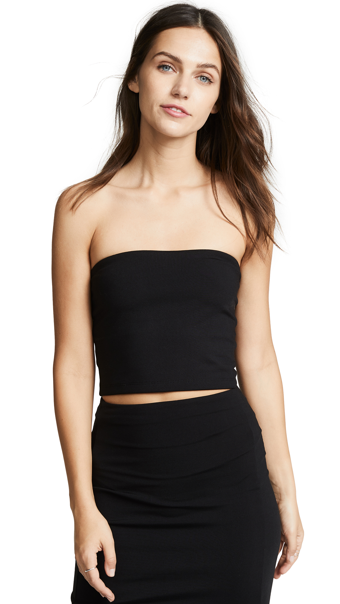 Crop Tube Top, Black