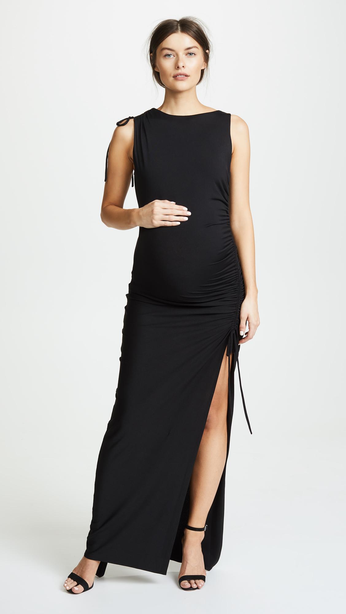 639ef9f0ce288 Susana Monaco Gathered Slit Maxi Dress   SHOPBOP