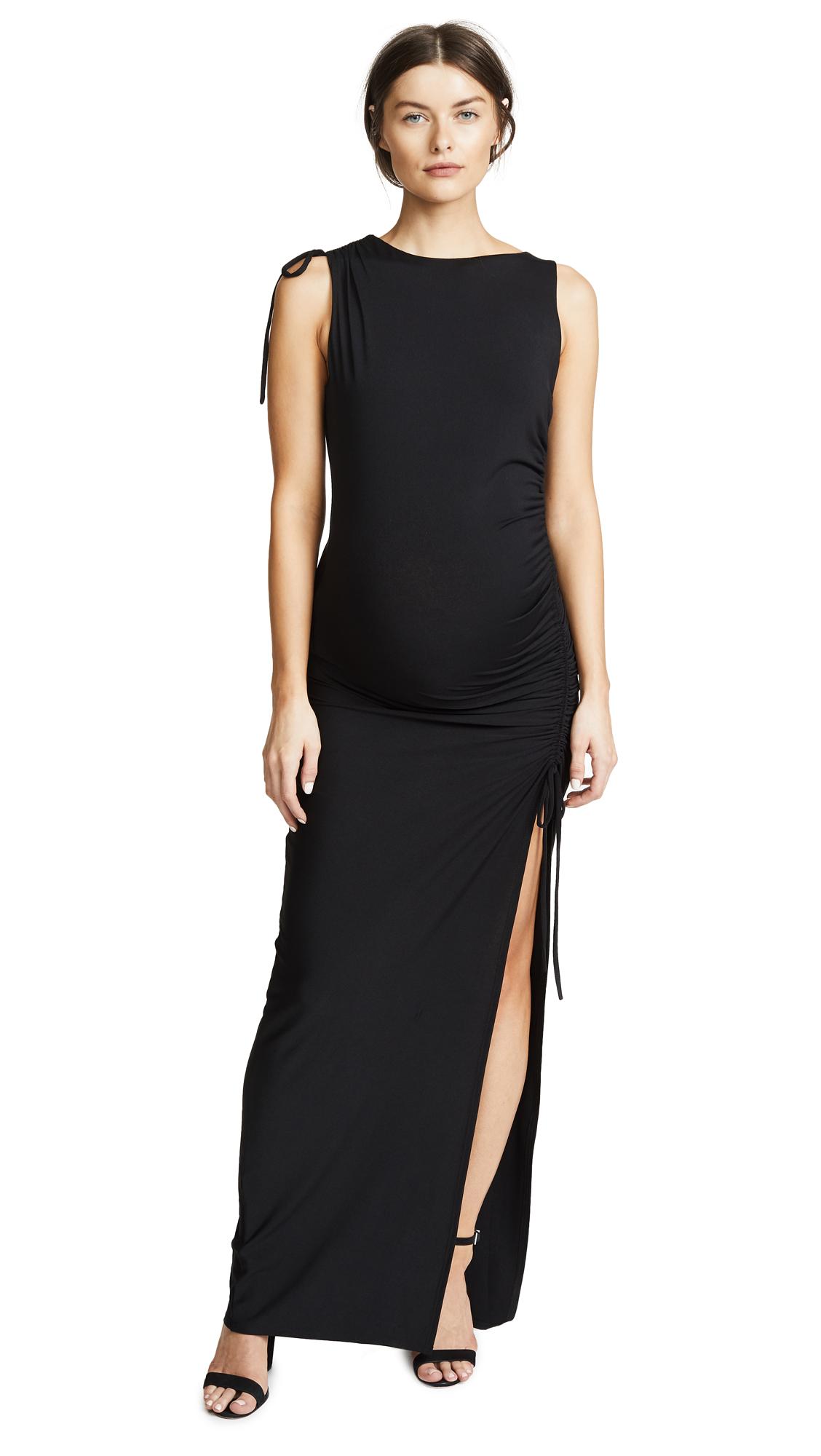 Susana Monaco Gathered Slit Maxi Dress