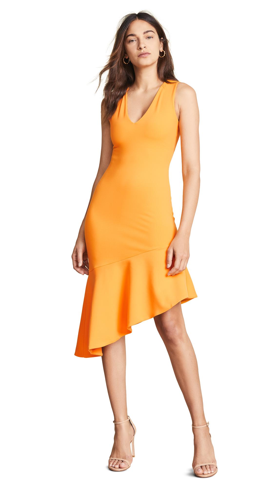 SUSANA MONACO Low Neck Flare Hem Dress in Zinnia