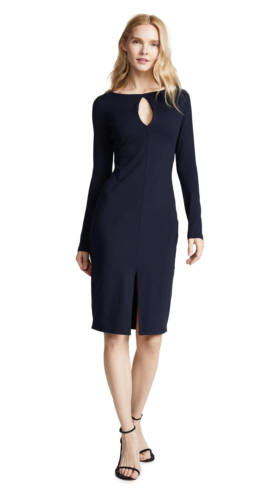 Susana Monaco Long Sleeve Slit Front Dress