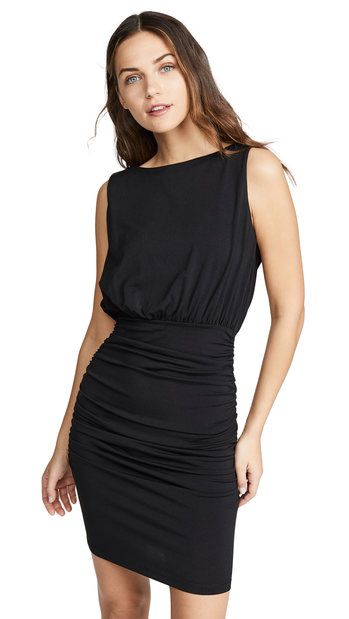 Photo of Susana Monaco Sleeveless Cowl Mini Dress - shop Susana Monaco Clothing, Dresses online