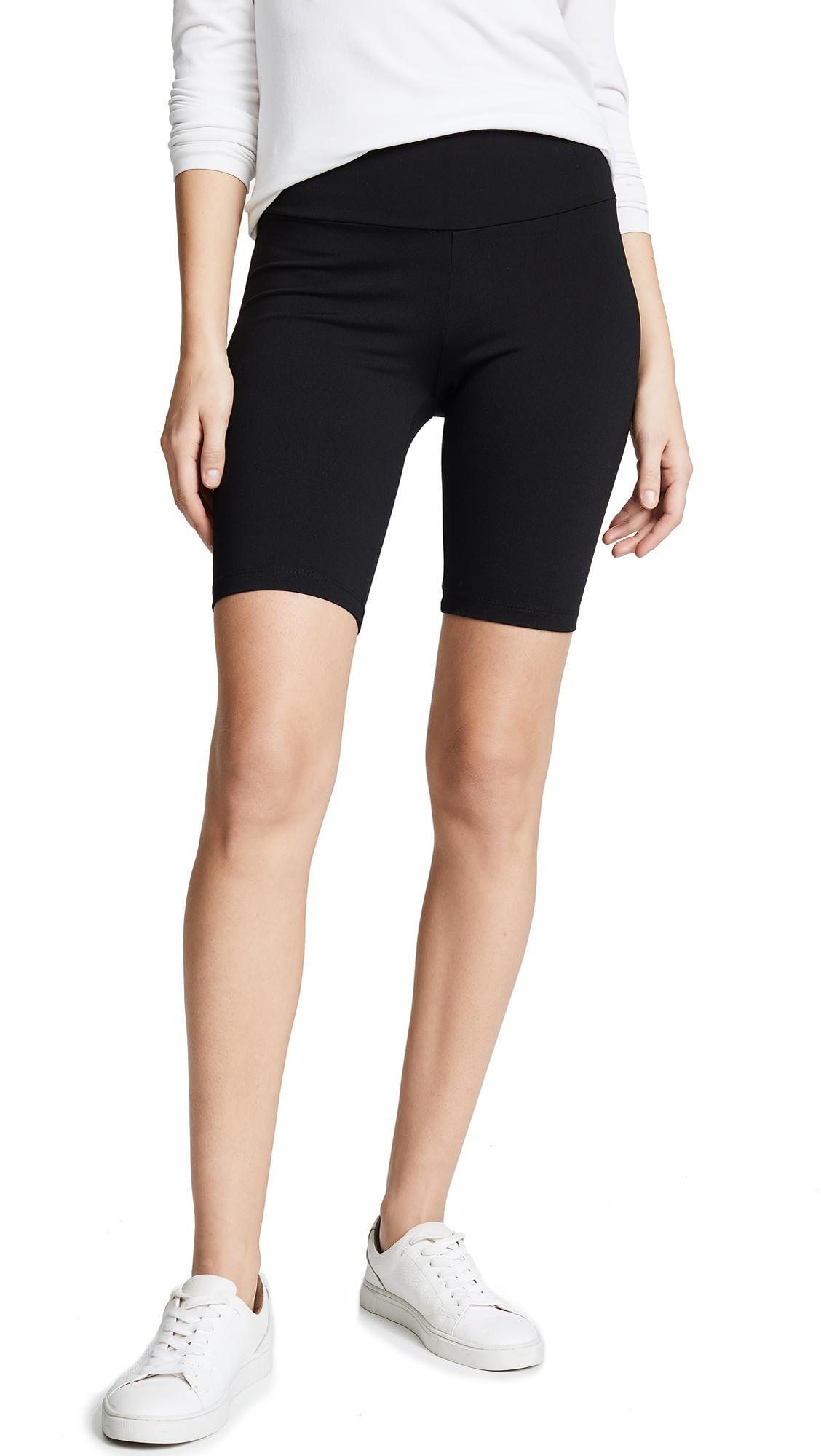 SUSANA MONACO Mid Length Bike Shorts in Black