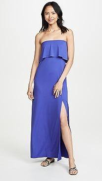a5675eec88fd Susana Monaco. Strapless Overlay Slit Dress
