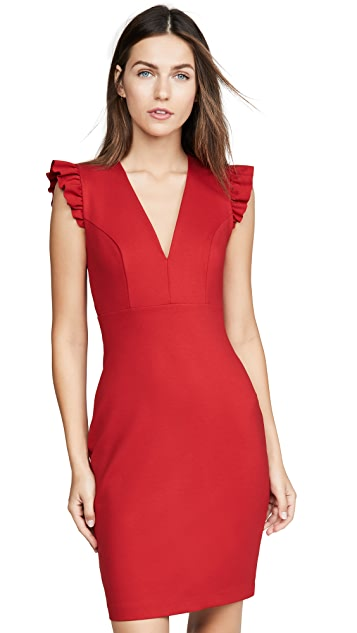 Susana Monaco Ruffle Edge Dress