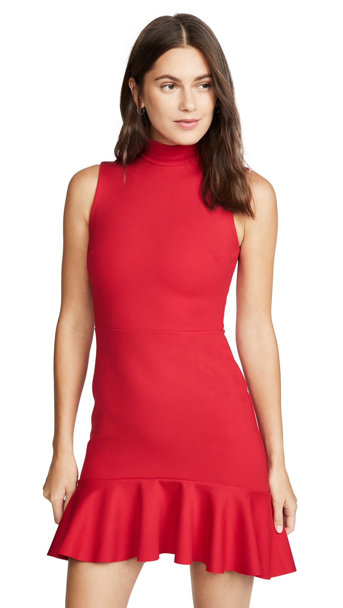 Buy Susana Monaco Mock Neck Curved Ruffle Dress online beautiful Susana Monaco Clothing, Dresses