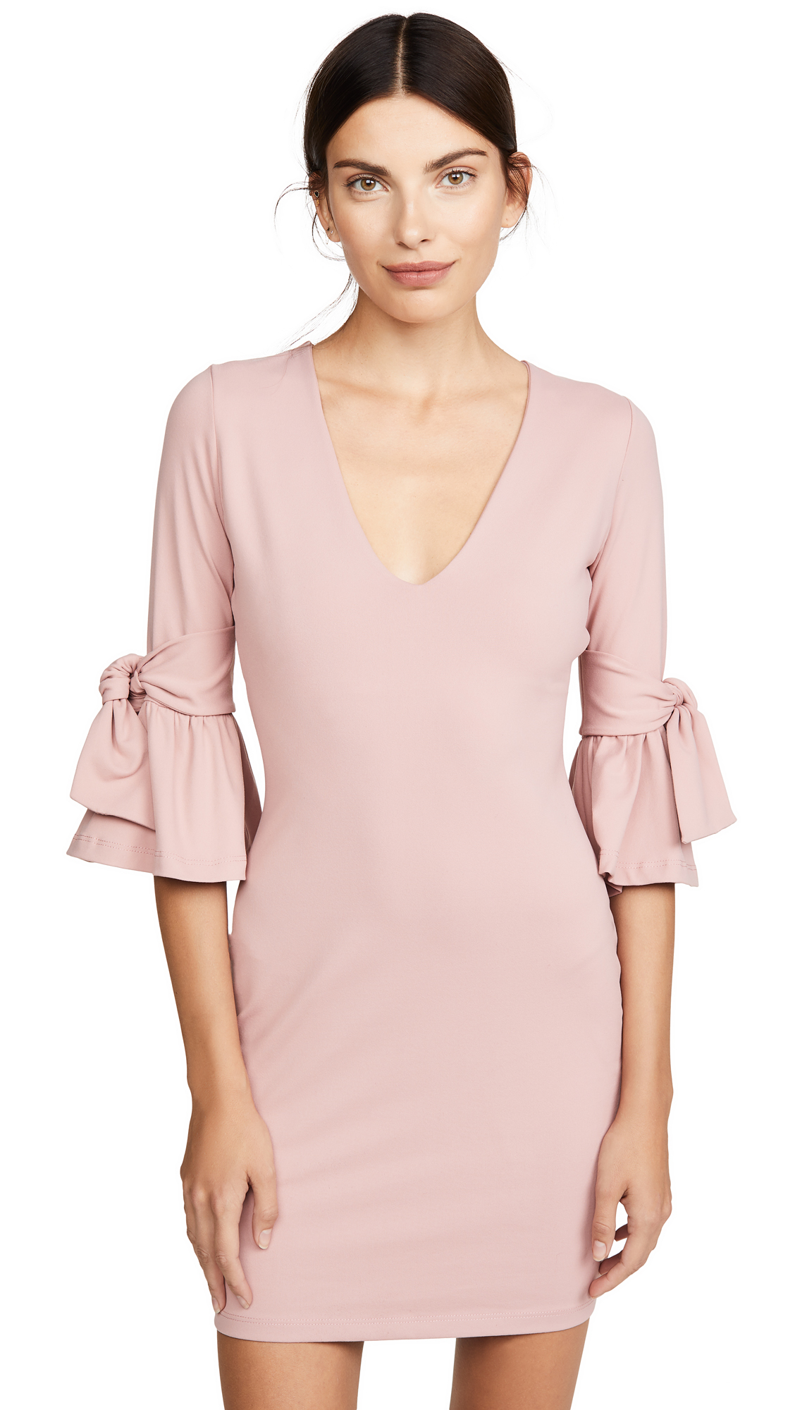 Buy Susana Monaco online - photo of Susana Monaco Tied Elbow Frill Sleeve Dress