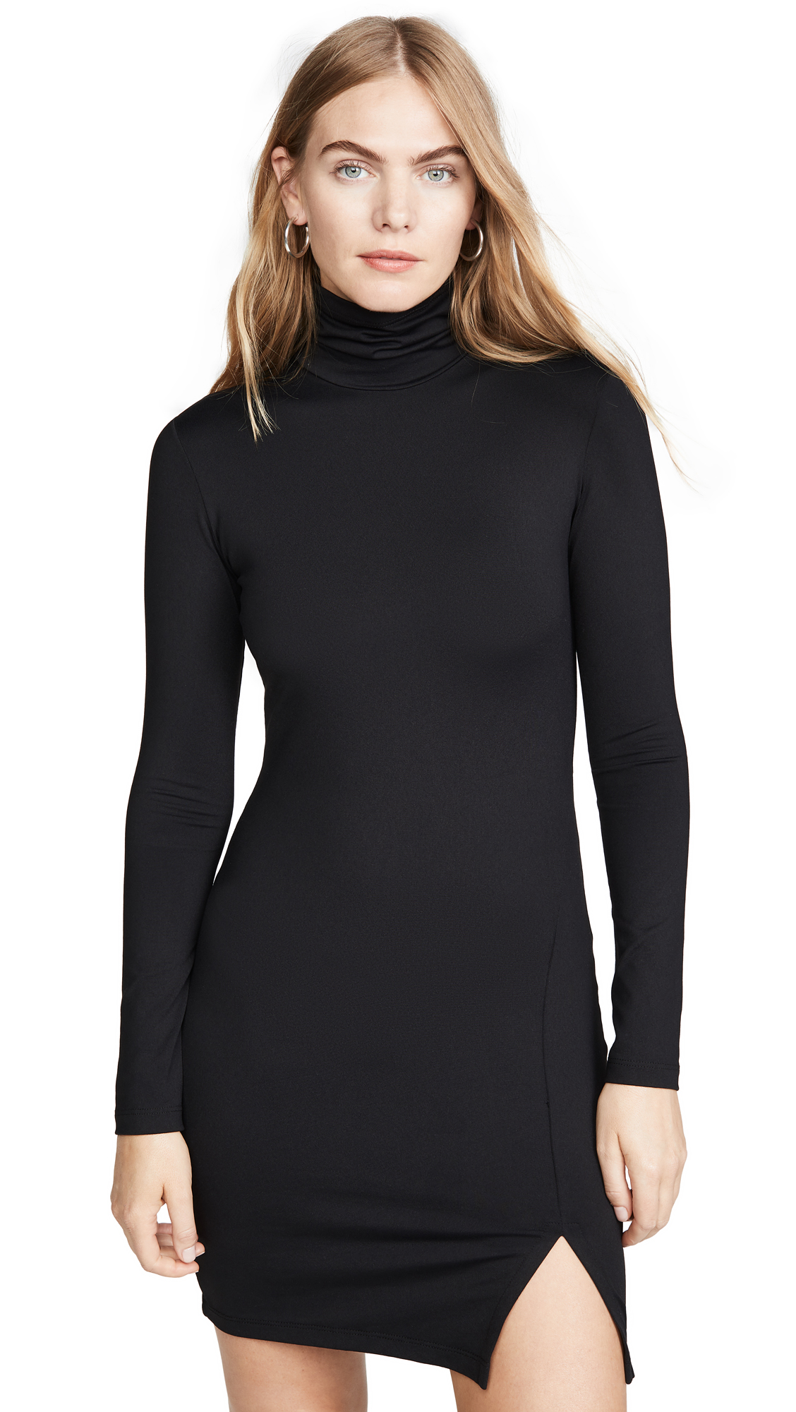 Susana Monaco Long Sleeve Turtleneck Mini Dress - 70% Off Sale