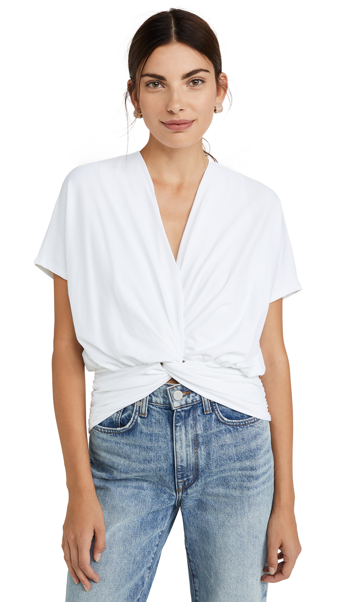 Susana Monaco Twist Front Dolman Top - 30% Off Sale