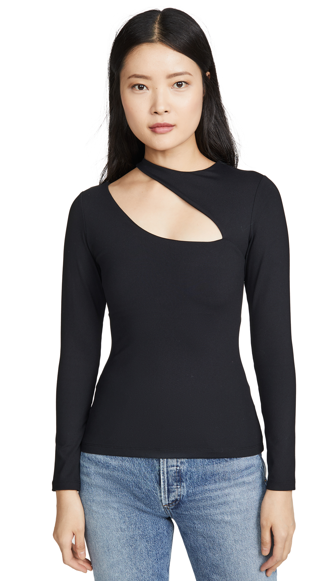 Susana Monaco Long Sleeve Slash Top - 50% Off Sale