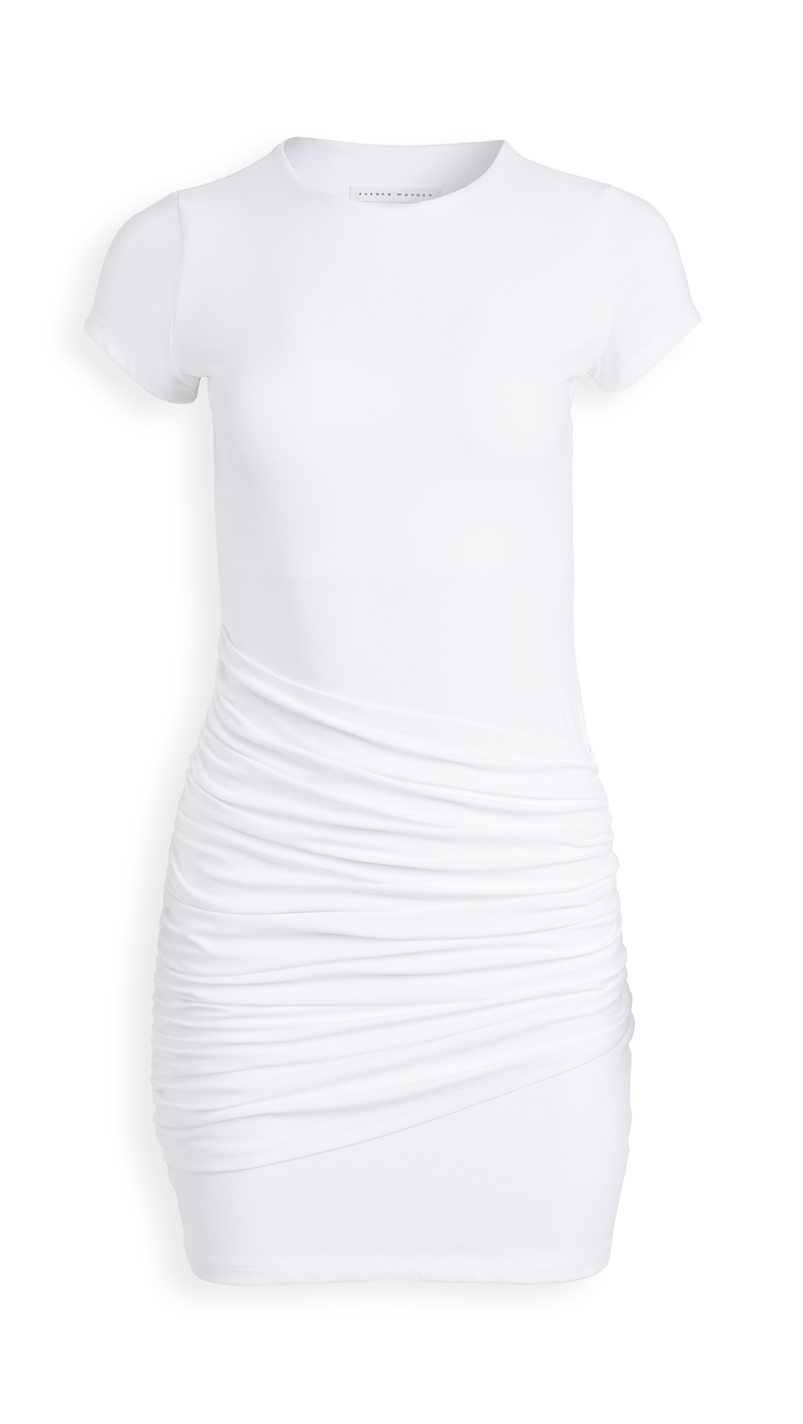 Susana Monaco Short Sleeve Gathered Overlay Dress