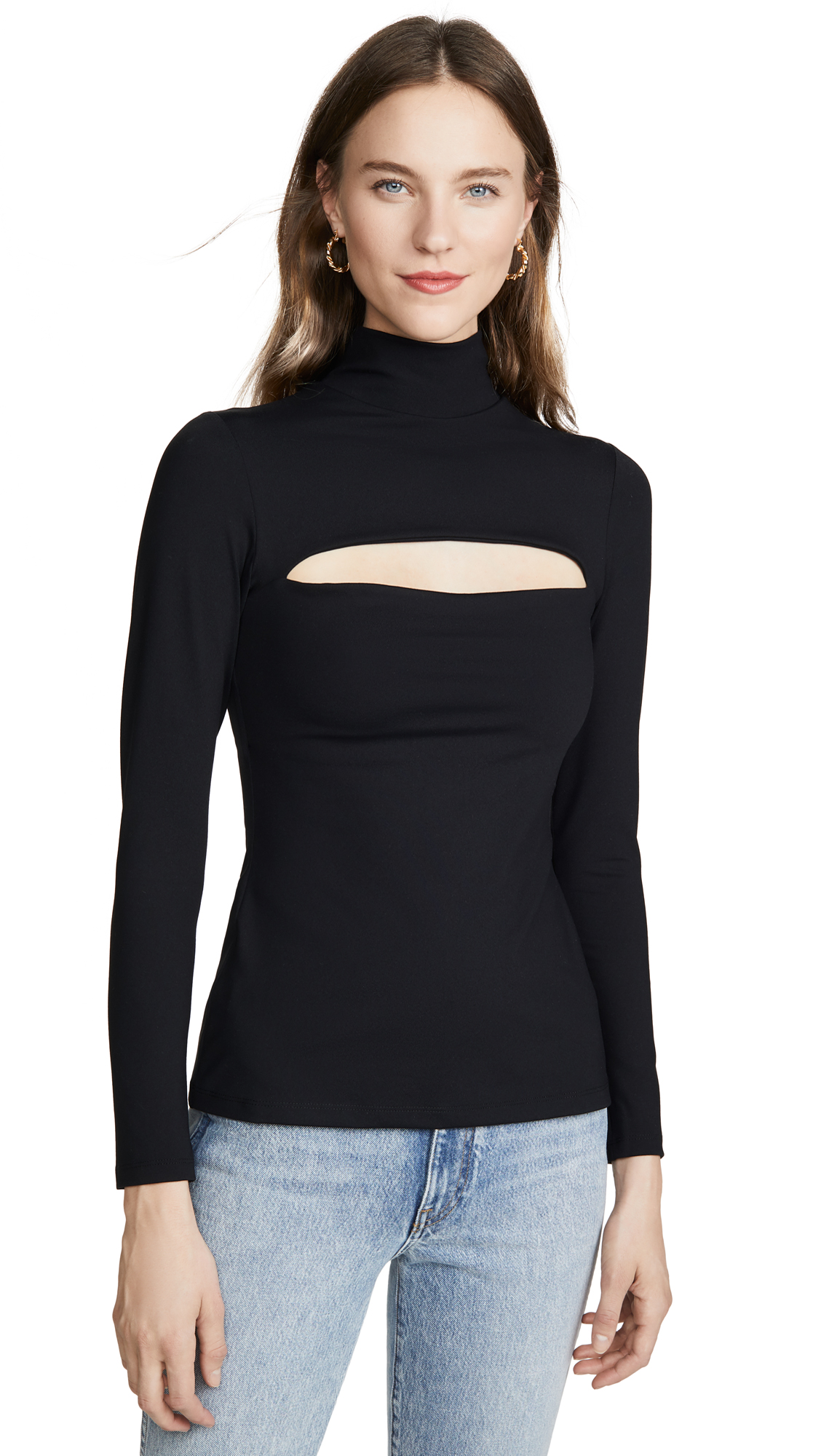 Susana Monaco Mock Neck Front Slash Top - 50% Off Sale