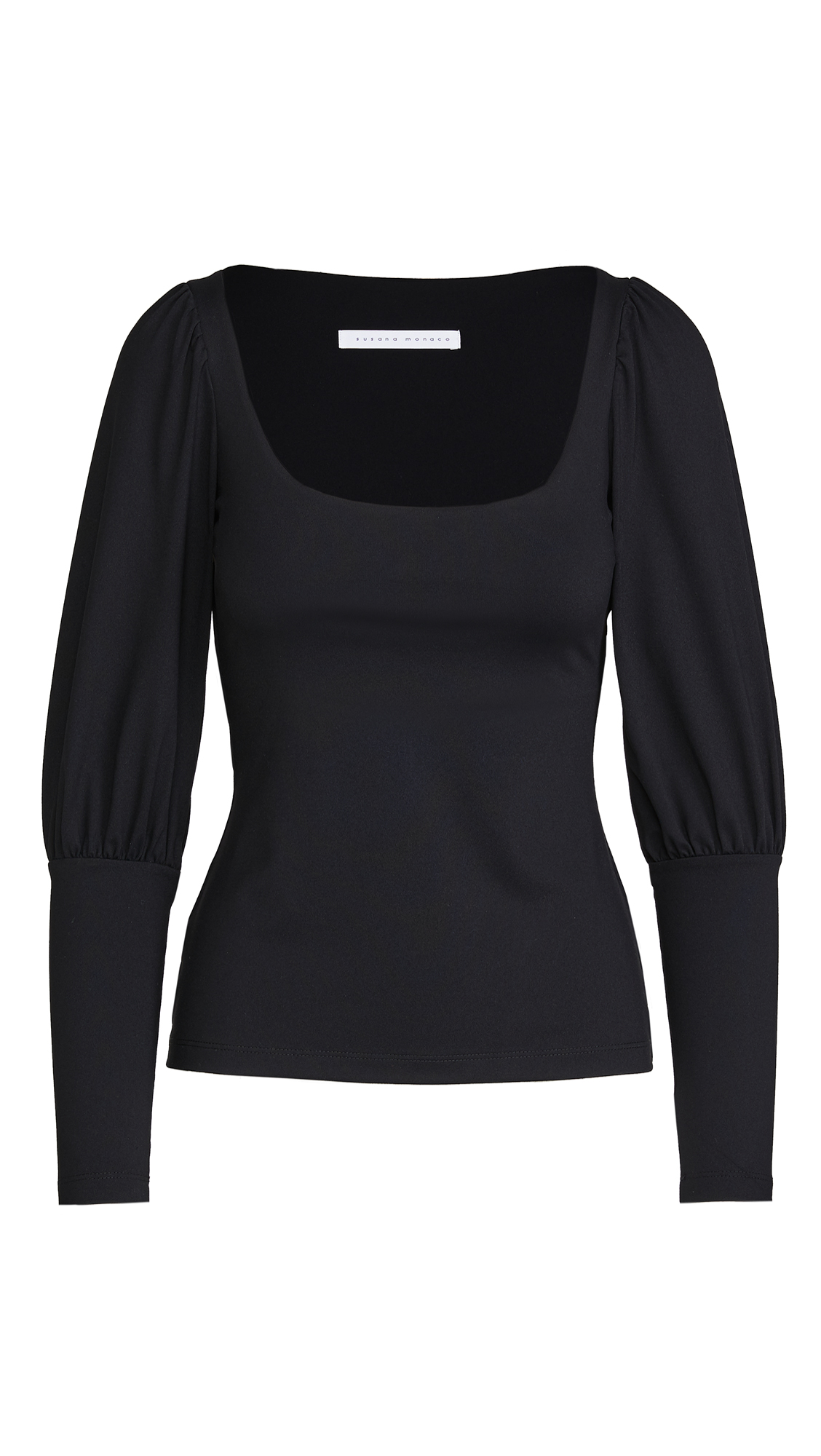 Susana Monaco Gathered Mutton Sleeve Top