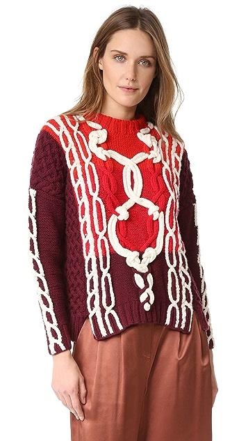 Spencer Vladimir The Knotty Marine Boxy Sweater