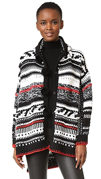 Spencer Vladimir The Confetti Hoodie - Black/Ivory/Cherry