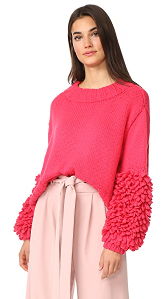 Spencer Vladimir Loopy Cuff Cashmere Sweater