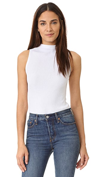360 SWEATER Fionna Sleeveless Sweater - White