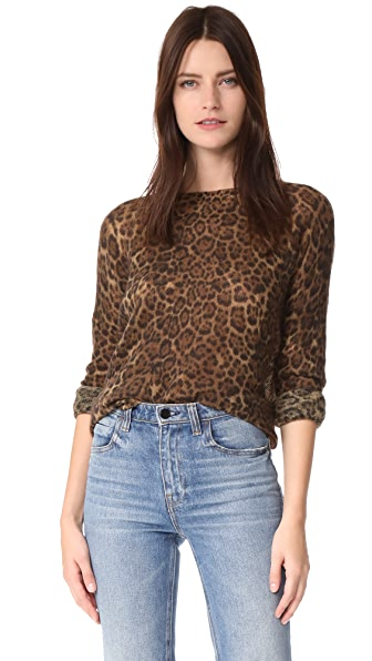 360 SWEATER Persephone Cashmere Sweater In Animal Print