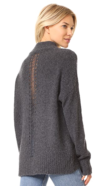 360 SWEATER Reanna Sweater In Charcoal