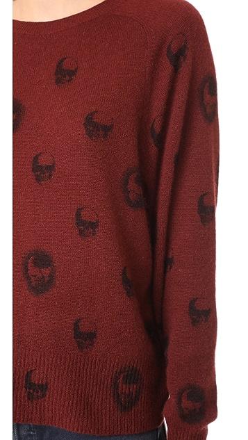 360 SWEATER Skull Cashmere Ebony Sweater