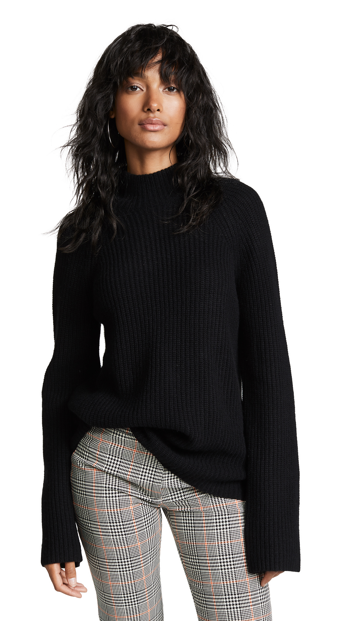 360 SWEATER Maye Cashmere Sweater In Black