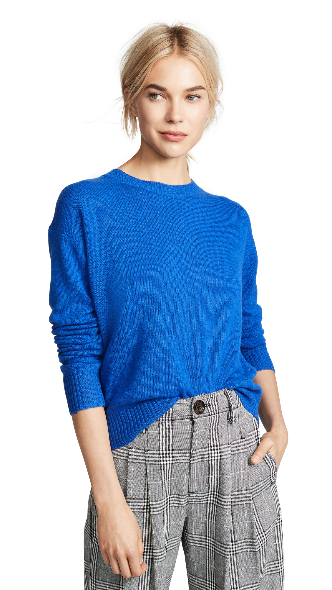 360 SWEATER Oumie Cashmere Sweater In Royal