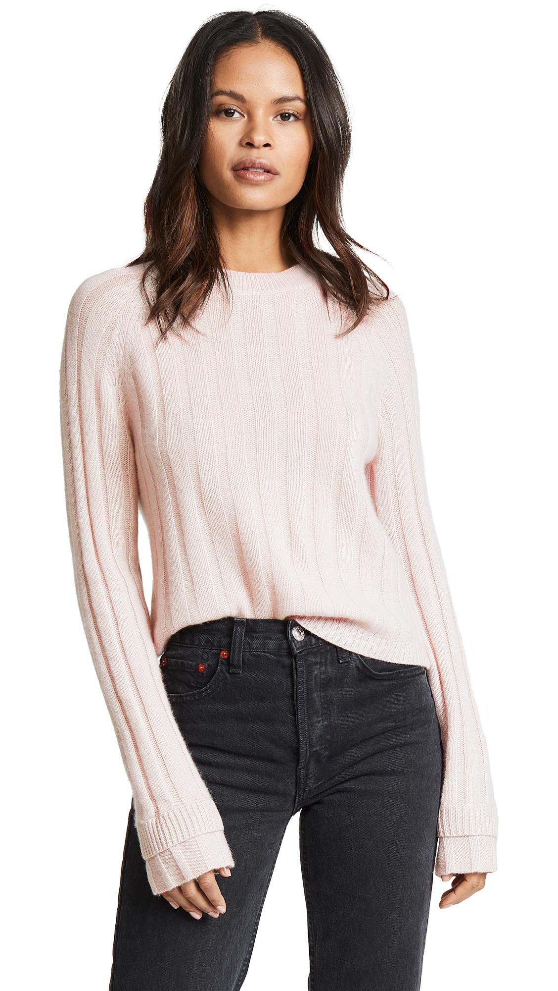 360 SWEATER Tatia Cashmere Sweater In Buff
