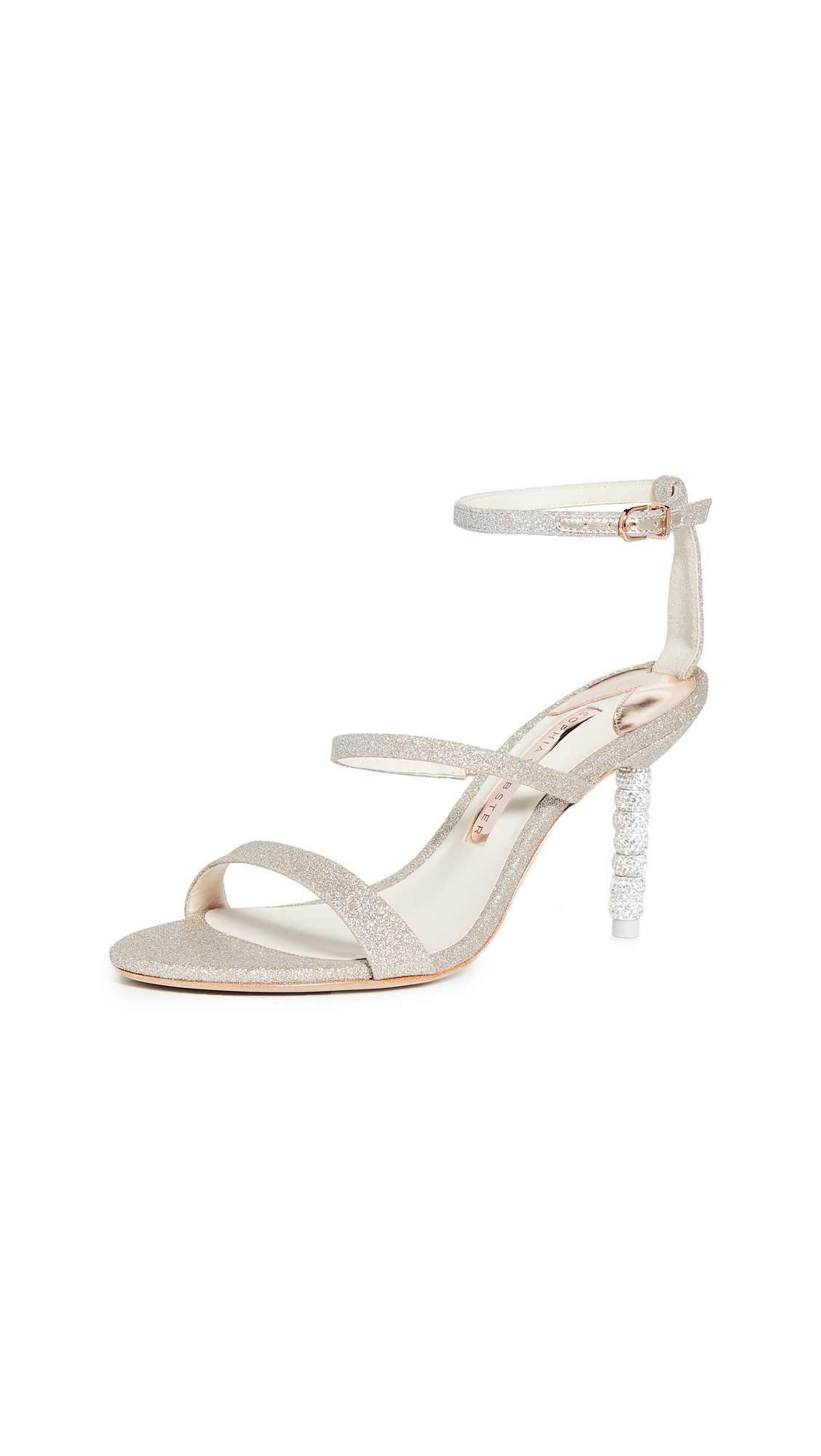 Sophia Webster 85mm Rosalind Crystal Sandals - 40% Off Sale