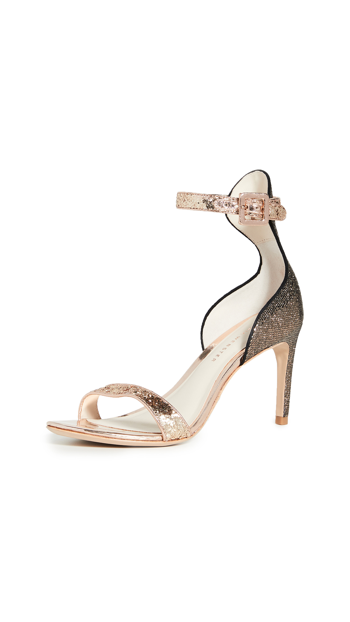 Sophia Webster Nicole Mid Sandals In Bronze/gold Glitter