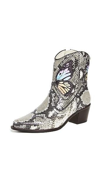 Sophia Webster Shelby Cowboy Boots - Snake Print/Rainbow