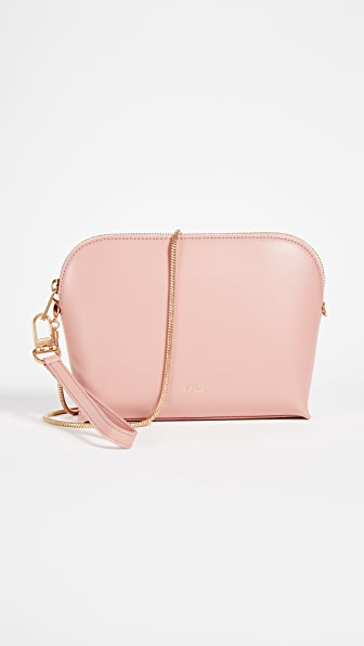 Sarah White Convertible Top Zip Cross Body Bag
