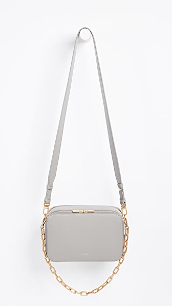 Sarah White Double Zip Cross Body Bag