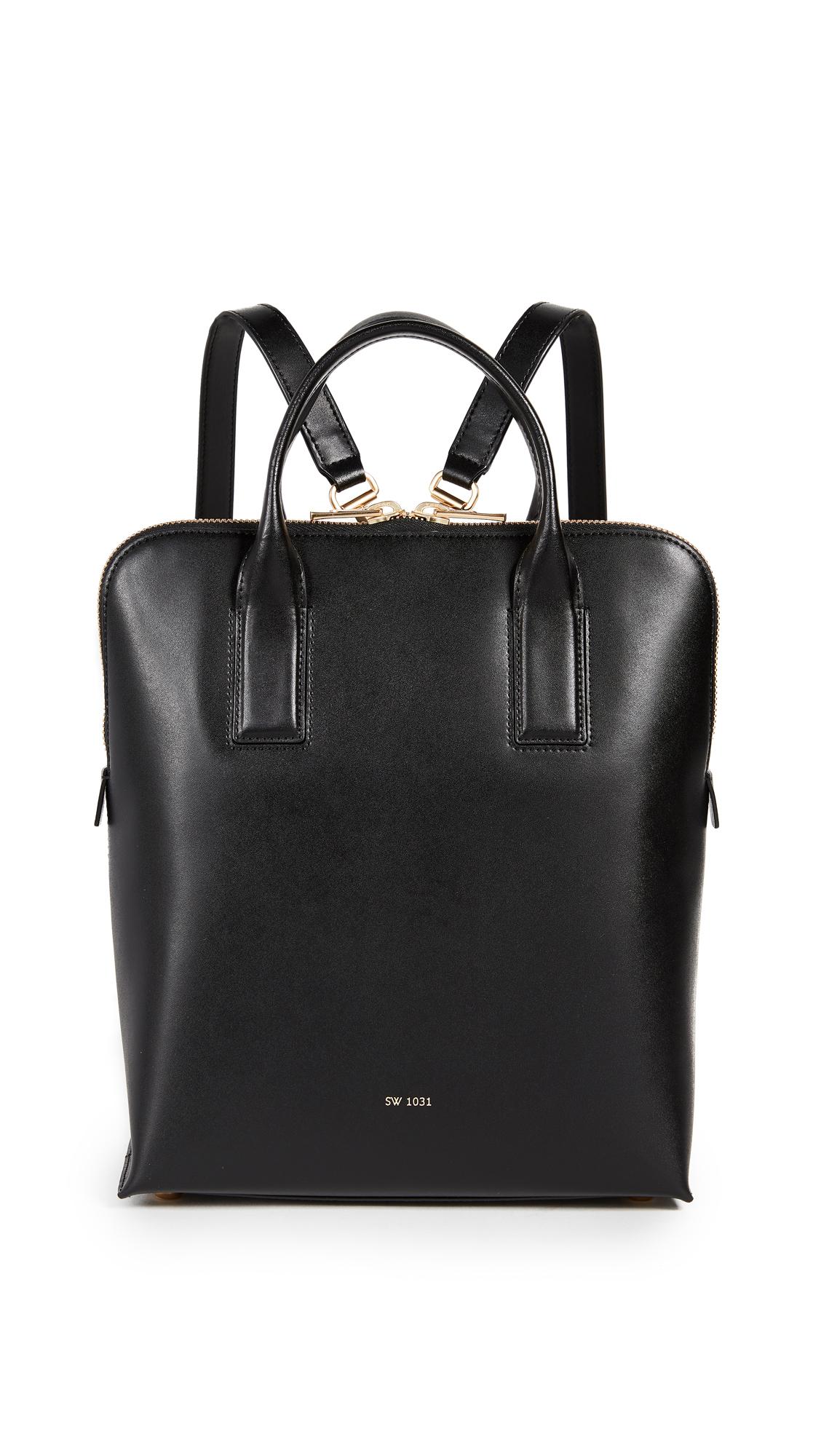 Sarah White Convertible Tablet Backpack - Black
