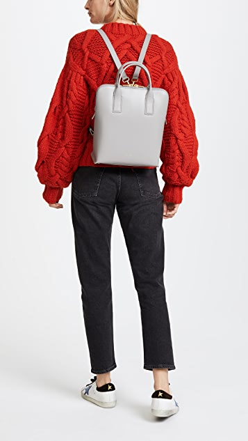 Sarah White Convertible Tablet Backpack