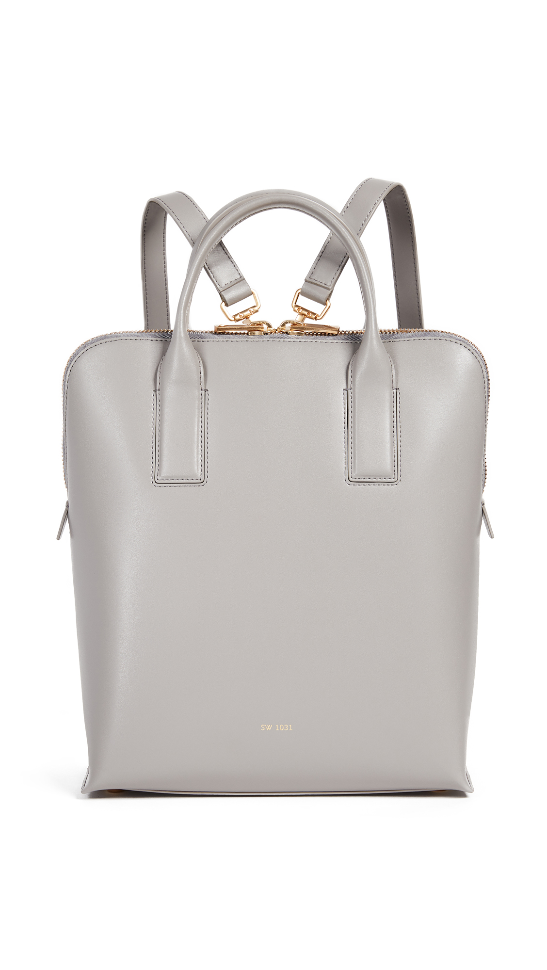 Sarah White Convertible Tablet Backpack - Dove Grey