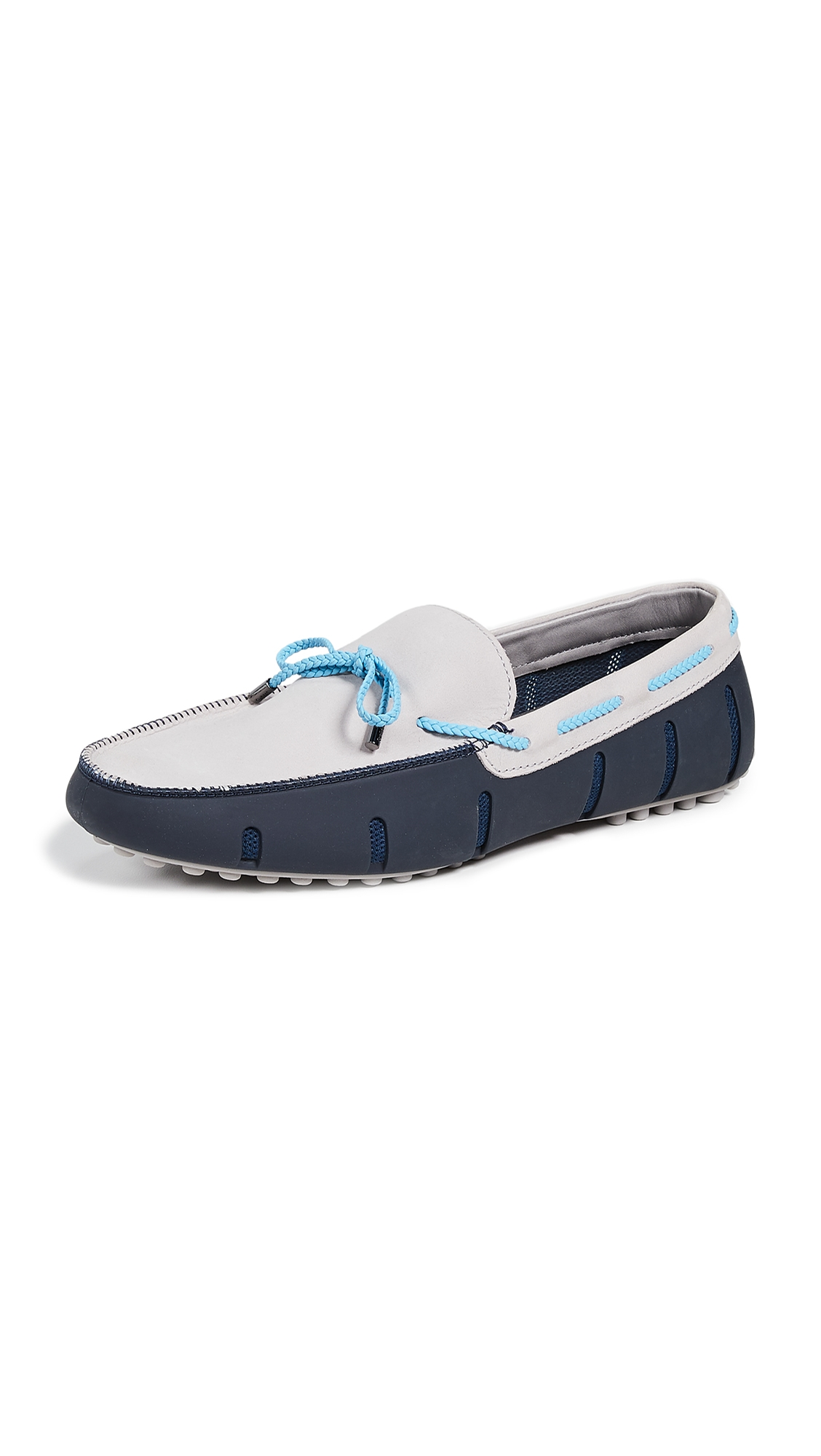 SWIMS Men'S Braided Lace Lux Waterproof Loafers in Navy/Alloy