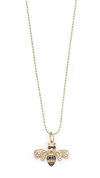 Sydney Evan 14k Gold Bee Necklace with Diamonds - Gold